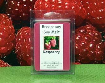 Raspberry Breakaway Clamshell PURE SOY Wax Tart Melts