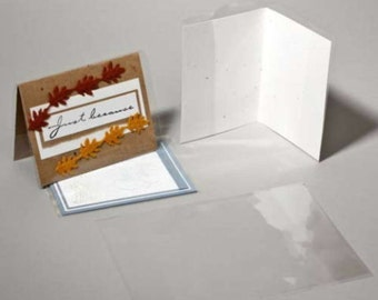 CJA9 100 Clear Card Jackets for A9 8 1/2  x 5 1/2 Card and 8 3/4 x 5 3/4 Envelope