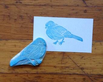 Hand Carved Little Bird Stamp