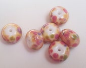 Spring Frit Lampwork Beads