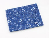Blue Points Fabric Envelope - for photos, cards, a birthday gift