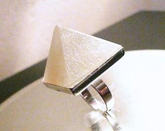 NEW SupHerOrgone CLEA-Ring Orgone Pyramid Ring- Glow in the dark