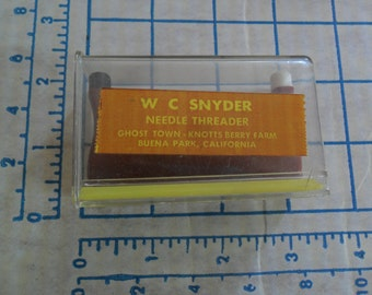 Stitch & Stretch Elastic Pleating Tape and W C Snyder Needle Threader