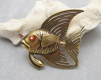 Large Vintage Fish Brooch Spain Vintage Jewelry P5731