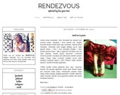 Responsive Premade Blogger Template - RENDEZVOUS - Graphic Design - Blog Template