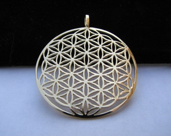 Gold filled Flower of Life Pendant Extra Large, Authentic Charm