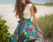 Vintage Thai Silk Circle Skirt