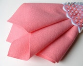 Carnation Pink, Pure Wool Felt, Choose Size, Large Felt Square, 100% Merino, Wool Applique, Felt Flowers, Soft Wool Felt, Pastel Pink, DIY