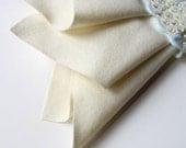 Ecru Felt, Pure Merino Wool, Large Felt Square, Felt Fabric Sheet, Ivory, Off White, Winter White, Cream, Nonwoven Wool, Applique, Quilting