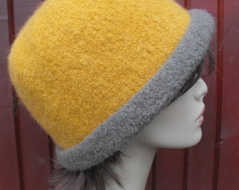Wool Felted Cloche Hat for Women