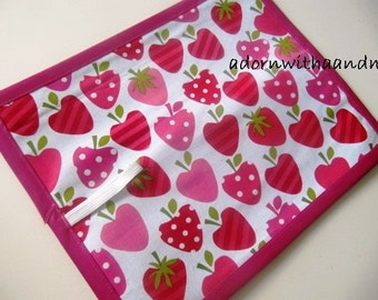 Strawberry Chalkboard Mat - Strawberry Roll Up Chalkboard - Strawberry Travel Chalkboard - Strawberry Chalkimamy - Travel Toy - Travel Mat