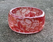 Orange Lace Lucite Bracelet