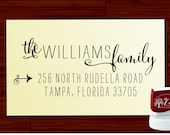 Retutn Address Stamp Custom calligraphy  - SELF INKING - style 1120-  personalized wedding or christmas gift