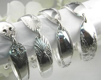 Bridesmaids Bracelets, Set Of 6, FREE ENGRAVING, Personalized Bridesmaids Bracelets, Personalized, Spoon Bracelets, Victorian Wedding