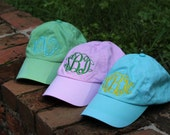 Custom Monogrammed Hand Dyed Ball Caps for Girls and Women