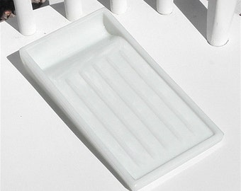 Dental Tray Vintage Milk Glass Vanity Drawer Cosmetics Craft Organizer Beading Glue Gun Tray