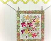 Summer Citrus mini pinwheel quilt