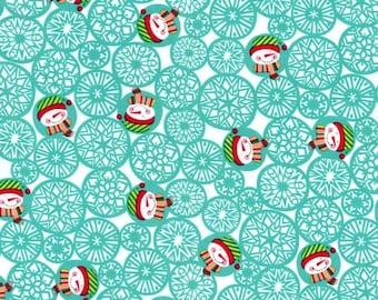 Christmas Fabric Man Flakes by Michael Miller Fabrics Fat Quarter