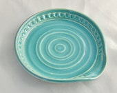 Spoon Rest in Turquoise / Robin's Egg Blue - Stoneware Ceramic Pottery
