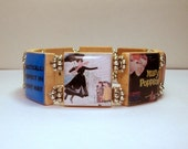 "MARY POPPINS Bracelet / SCRABBLE - Spells ""Fly A Kite"" on the inside / Handmade Jewelry / Book Lover Gift"