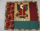 Quilted Christmas Mug Rug or Candle Mat