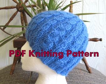 Instant Download. Knitted Hat Pattern. Cable Beanie Pattern - Downloadable Pattern. Tutorial. PDF. Knit Hat Pattern. Beanies for Men Women.
