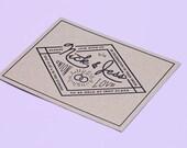 Rustic Wedding Invitation - Kraft Wedding Rings Invite set - ElloThere