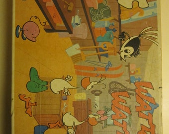 vintage french Wattoo Wattoo puzzle jigsaw 35 pieces 70s cartoon 1970 toy
