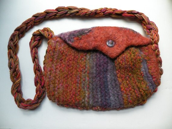 how to make wool felt handbags