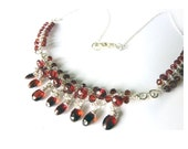 Red Garnet Necklace - Fine Jewelry - One of a Kind - Tagt - Free Shipping