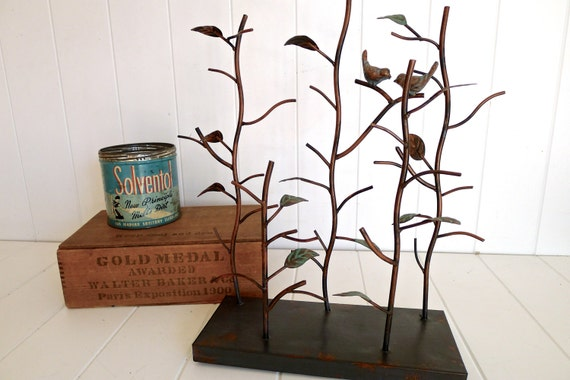 Cathy- Bird Jewelry Stand Tree display organizer with Metal Base