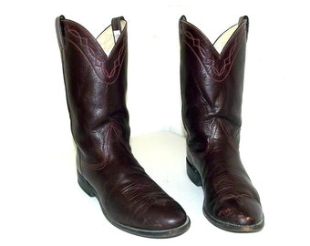 Burgundy wine cowboy boots - Nocona brand - size 9.5 D or womens size 11