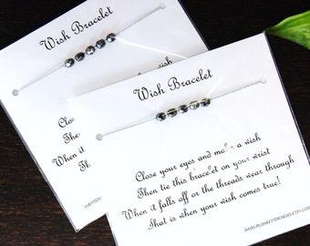 GRAY MATTERS  - Set of Two Wish Bracelets