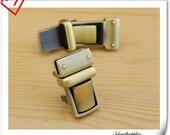 Anti bronze clutch lock /latch lock / latch/ clutch purse lock / tongue lock /Purse lock / 22mm x 38mm (7/8 inch x 1 1/2 inch ) N15