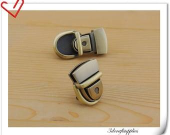 Anti bronze clutch lock /latch lock / latch/ clutch purse lock / tongue lock /Purse lock / 27mm x 37mm (1 inch x 1 1/2 inch )  N40