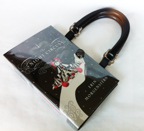 The Night Circus Recycled Book Purse - Midnight Circus Book Cover Bag - Circus Theme Gift