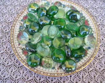 Deep Green Mix Glass Gems Translucent Green Mix Green Mosaic Glass Gems Green Glass Nuggets Glass Gems Mosaics Crafts Jewelry