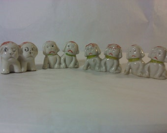 FREE SHIPPING vintage dog figurines Japan (Vault 14)