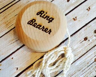 ring bearer yoyo , ring bearer gifts , gifts for ring bearers , wood yoyo , personalized ring bearer gifts