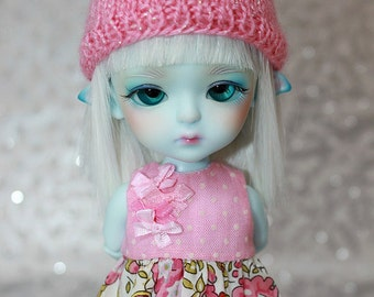 SALE - LATI Yellow PukiFee - Hello Kitty Series - Roses - DRESS - Pastel Pink