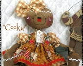 """Primitive Gingerbread Doll """"COOKIE"""" with sifter ornie from Ginger Creek Crossing"""
