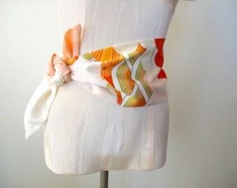 Japanese Obi Sash Wedding Sash Kimono Silk Vintage Fabric - ready to ship