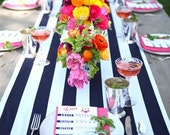 Black and White Striped Table Runners for Susan