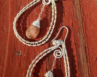 Oregon Sunstone Spiral Hoops