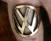 Vintage VW Beetle Key Finger Ring Volkswagen Solid Bronze Automotive Motors Car 164