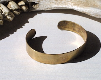 Rustic Brass Cuff for Men - Cool, Clean and Customizable