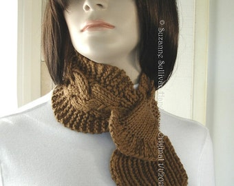 Free Crochet Pattern For Ascot Scarf : Items similar to Drifted Pearls Scarf Knitting Pattern ...