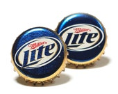 Blue and Gold Miller Lite Beer Bottle Cap Cufflinks Cuff Links