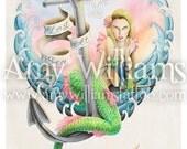 Lost At Sea Tattoo Art A4 Print