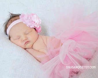 Pink & light pink Newborn Baby tutu WITH headband, Infant Baby Girl Tutu, newborn photo prop, new baby,, baby girl, baby gift, newborn photo